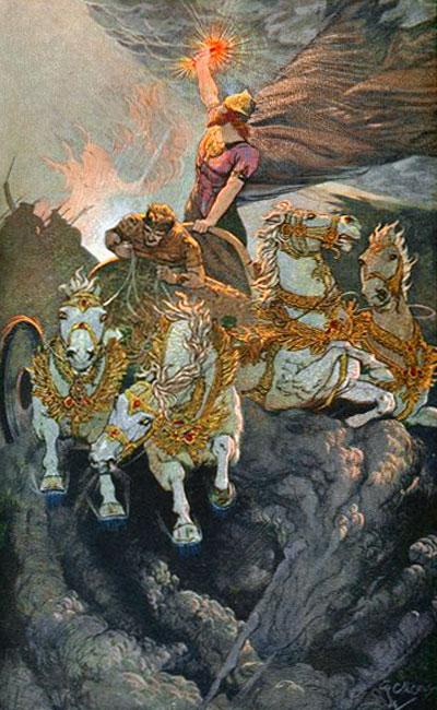 Мардук побеждает войско Тиамат