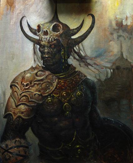 картина демон: